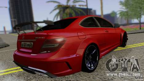 Mercedes Benz C63 AMG Black Series 2012 for GTA San Andreas left view