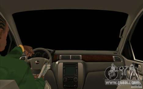 GMC Yukon 2008 for GTA San Andreas inner view