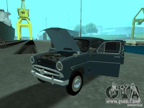 Moskvich 407 for GTA San Andreas inner view