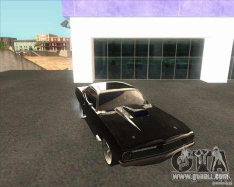 Plymouth Barracuda for GTA San Andreas right view