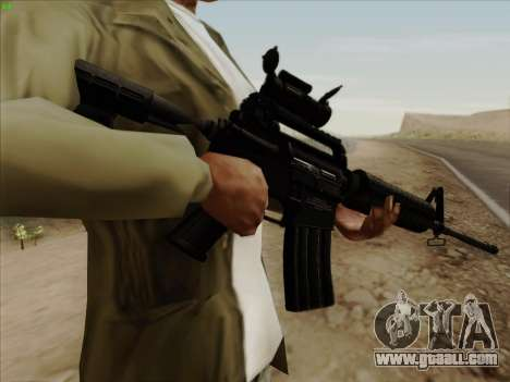 Colt Commando Aimpoint for GTA San Andreas third screenshot