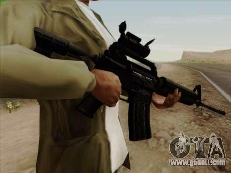 Colt Commando Aimpoint for GTA San Andreas third screenshot