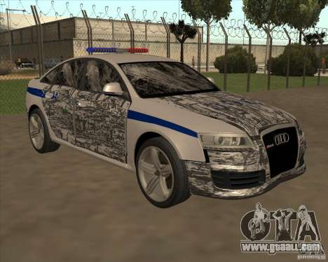 Audi RS6 2010 DPS for GTA San Andreas bottom view