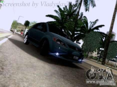 Suzuki SX4 Sportback 2011 for GTA San Andreas back view