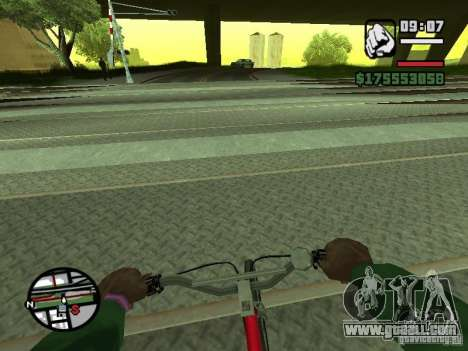 First person (First-Person mod) for GTA San Andreas fifth screenshot