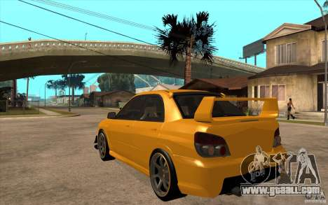 Subaru Impreza 2006 WRX STI for GTA San Andreas back left view