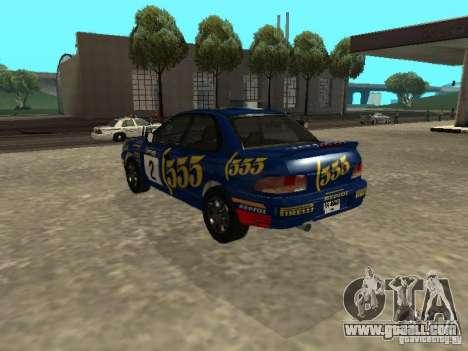 Subaru Impreza WRX STI 1995 for GTA San Andreas wheels