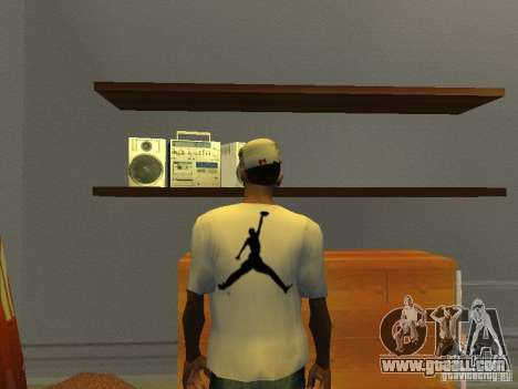 Nike Air Jordan - T-Shirt for GTA San Andreas