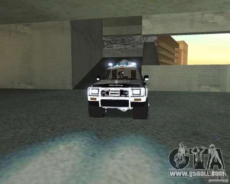 Toyota Surf v2.1 for GTA San Andreas inner view