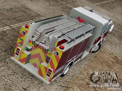 Pierce Pumpers. San Francisco Fire Departament for GTA San Andreas side view