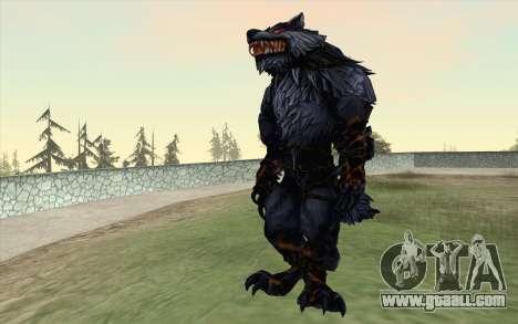 Werewolf Transformation V1.0 for GTA San Andreas