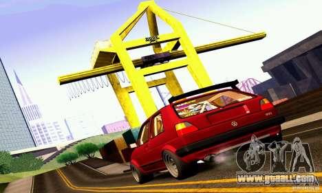 Volkswagen Golf MkII Racing for GTA San Andreas left view