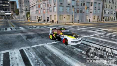 Subaru Impreza WRX STI Rallycross Monster Energy for GTA 4 right view
