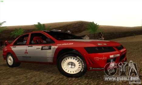 Mitsubishi Lancer Evolution VII for GTA San Andreas left view