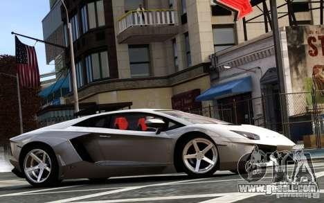 Lamborghini Aventador LP700-4 2012 for GTA 4 left view