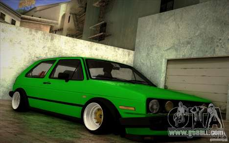 VW Golf MK2 Stanced for GTA San Andreas