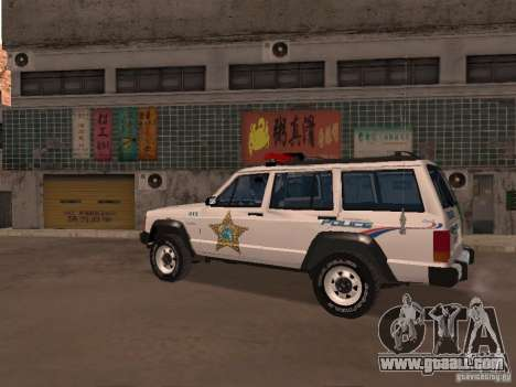 Jeep Cherokee Police 1988 for GTA San Andreas left view