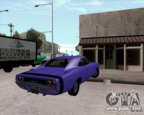 Dodge Charger RT 440 1968 for GTA San Andreas back left view