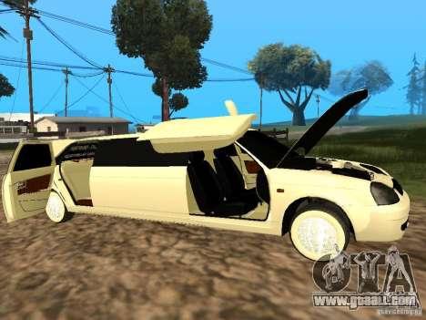 LADA 2170 Priora Limousine for GTA San Andreas right view