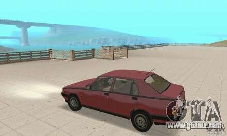 Alfa Romeo 75 for GTA San Andreas right view