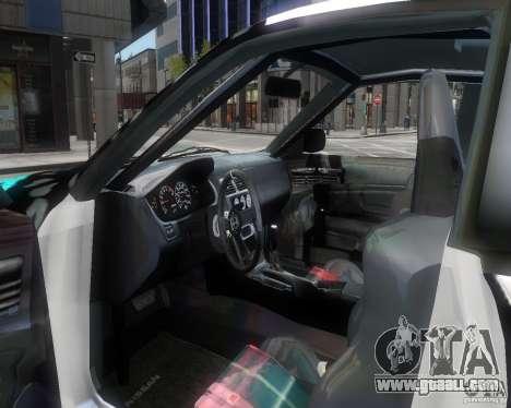 Nissan Silvia S14 Matt Formula Drift for GTA 4 inner view