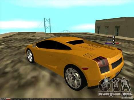 Lamborghini Gallardo for GTA San Andreas left view
