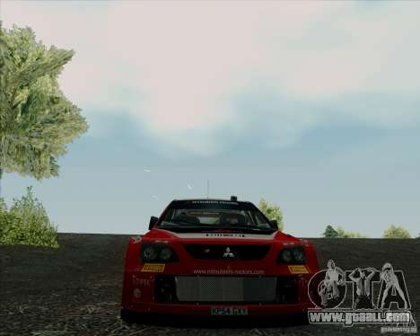 Mitsubishi Lancer Evolution VIII WRC for GTA San Andreas inner view