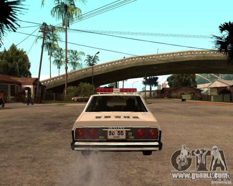Nissan Skyline 2000 GT Police for GTA San Andreas back left view