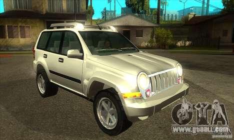 Jeep Liberty 2007 for GTA San Andreas back view