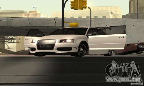 Audi S3 Full tunable for GTA San Andreas back view