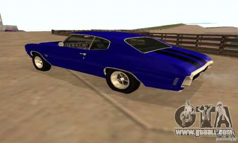 Chevrolet Chevelle SS 1970 for GTA San Andreas upper view