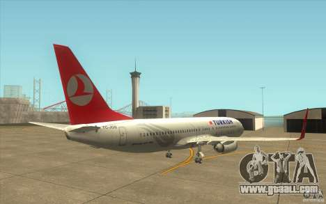 Boeing 737-800 THY for GTA San Andreas right view