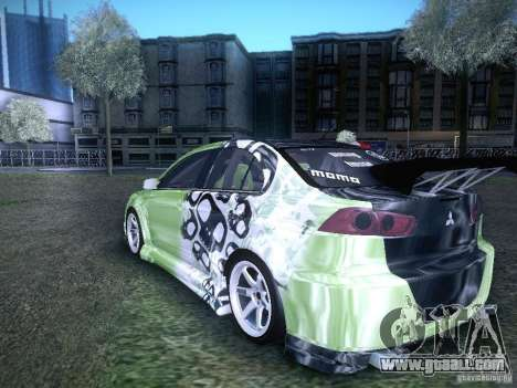 Mitsubishi Lancer Evolution X - Tuning for GTA San Andreas left view