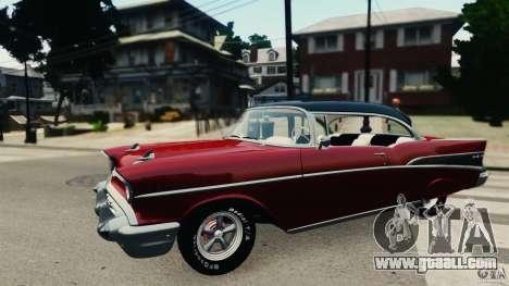 Chevrolet Bel Air Hardtop 1957 Light Tun for GTA 4 left view