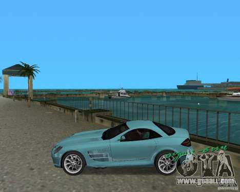 Mercedess Benz SLR Maclaren for GTA Vice City left view