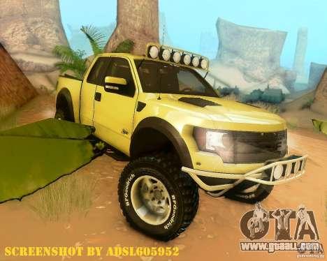 Ford F150 2011 SVT RapTor for GTA San Andreas engine