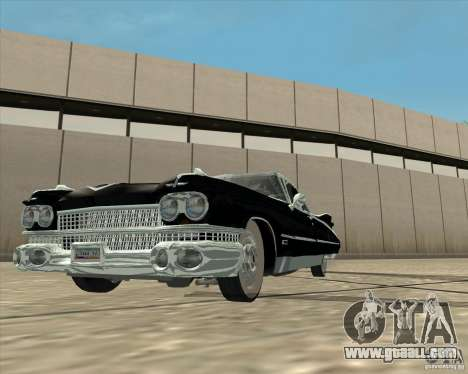 Cadillac Eldorado 1959 for GTA San Andreas right view