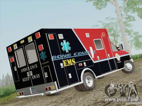 Ford E-350 AMR. Bone County Ambulance for GTA San Andreas right view