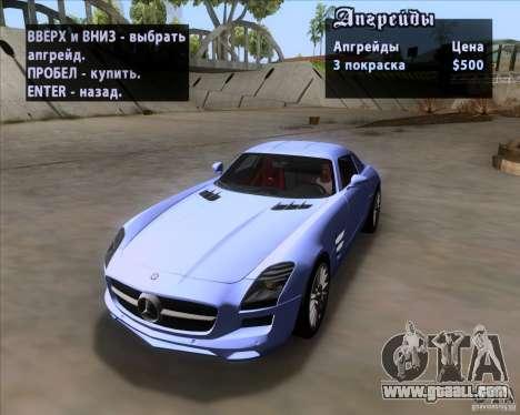 Mercedes-Benz SLS AMG V12 TT Black Revel for GTA San Andreas upper view