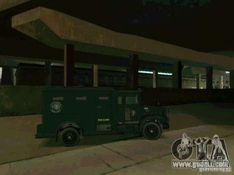Stokade SAPD SWAT Van for GTA San Andreas back view