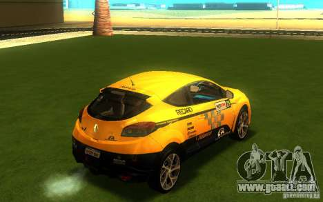 Renault Megane RS for GTA San Andreas back left view