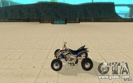 Yamaha YFZ 450 SuperCross Skin 3 for GTA San Andreas left view
