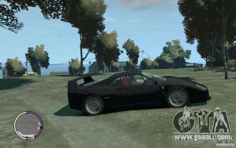 Ferrari F40 v2.0 for GTA 4 back left view