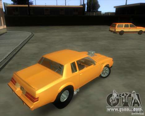 Buick GNX pro stock for GTA San Andreas back view