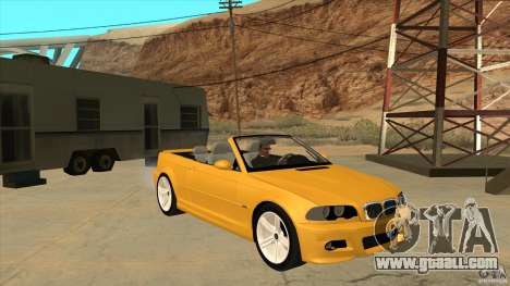 BMW E46 M3 Cabrio for GTA San Andreas back view