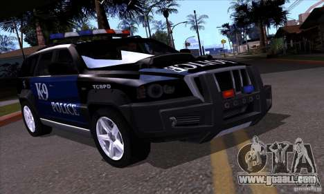 NFS Undercover Police SUV for GTA San Andreas right view