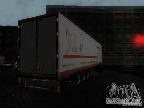 Trailer reefer for GTA San Andreas left view