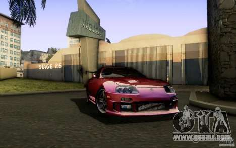Toyota Supra Top Secret for GTA San Andreas back view