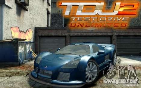 Gumpert Apollo Sport for GTA 4 back view