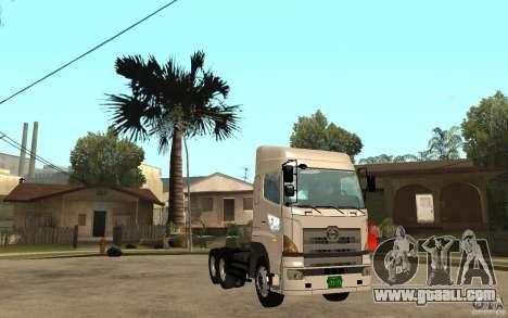 Hino 700 Series for GTA San Andreas back view
